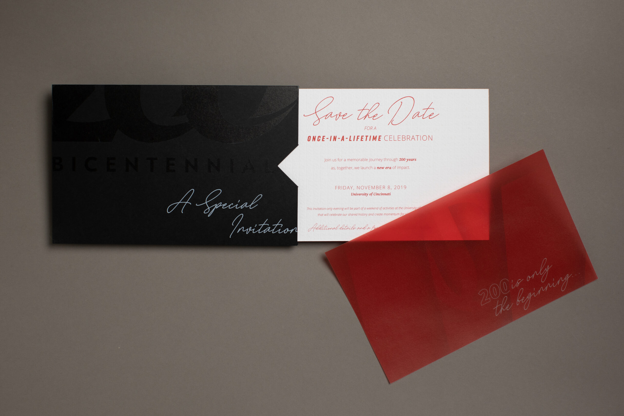 Print Mail Save the Date Event for University by Oregon Printing Dayton Ohio