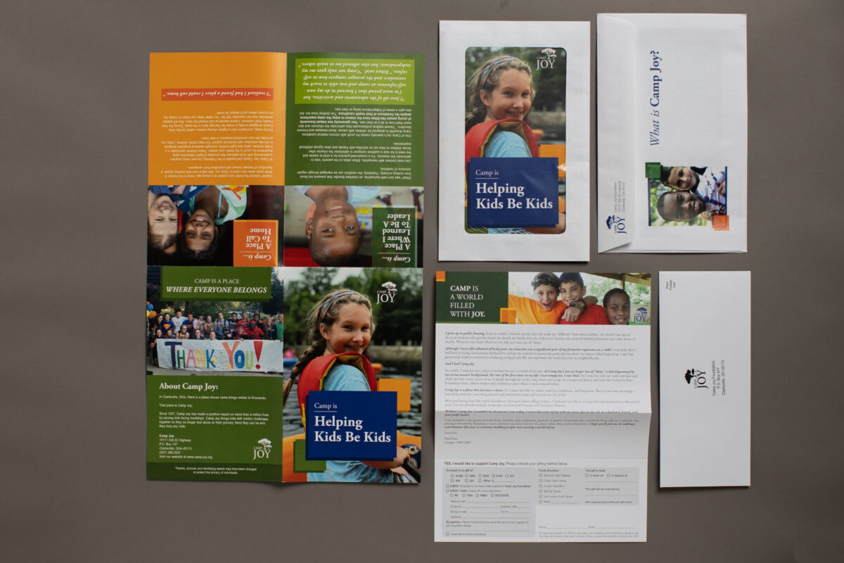 print mail fundraising for Camp Joy by Oregon Printing in Dayton OH