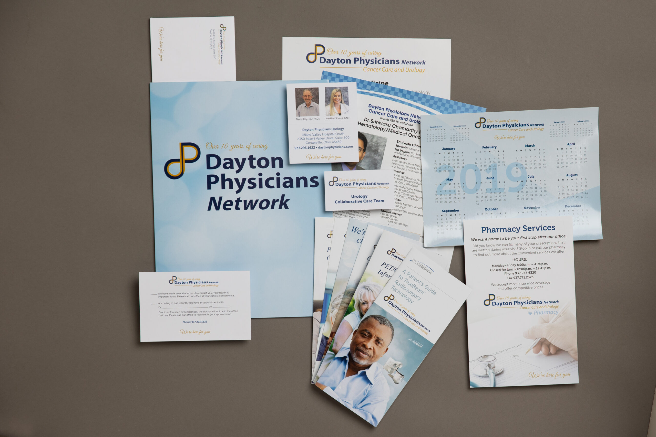 print logo branding identity project for Dayton Physicians Network by Oregon Printing Ohio